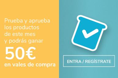 Prueba nuestros productos y gana 50 euros